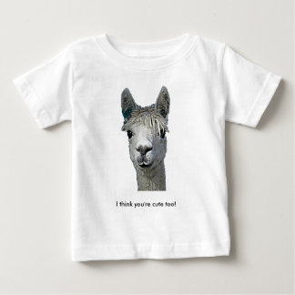 愛らしいアルパカ ベビーTシャツ