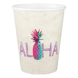 愛らしいアロハハワイのパイナップル 紙コップ