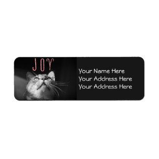 愛らしいクリスマス猫 ラベル