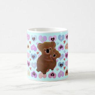 愛らしいコアラ愛 コーヒーマグカップ