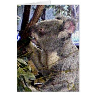 愛らしいコアラ カード