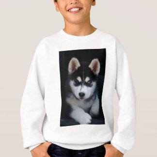 愛らしいシベリアンハスキーのそり犬の子犬 スウェットシャツ