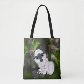 愛らしいシャムの柔らかい子ネコ トートバッグ