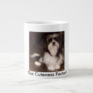 愛らしいシーズー(犬)poo ジャンボコーヒーマグカップ