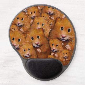愛らしいハムスターの群集、元の芸術 ジェルマウスパッド