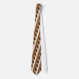 愛らしいバセットハウンド犬の芸術の抽象芸術 ネクタイ