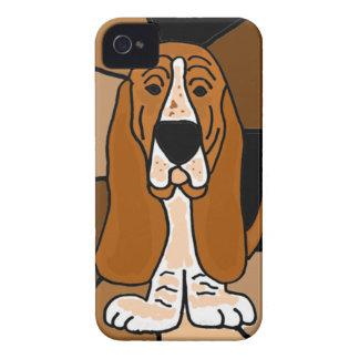 愛らしいバセットハウンド犬の芸術の抽象芸術 Case-Mate iPhone 4 ケース