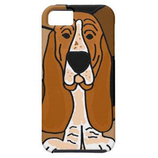 愛らしいバセットハウンド犬の芸術の抽象芸術 iPhone SE/5/5s ケース
