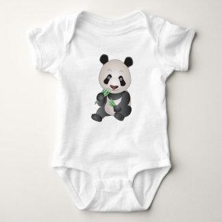 愛らしいパンダ ベビーボディスーツ