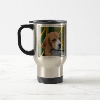 愛らしいビーグル犬 トラベルマグ