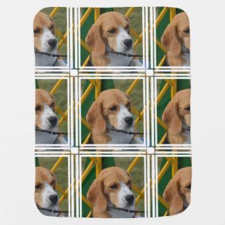 愛らしいビーグル犬 ベビー ブランケット