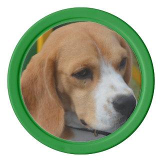 愛らしいビーグル犬 ポーカーチップ