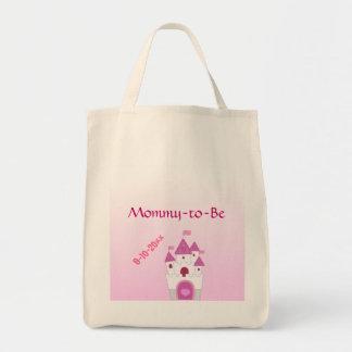 愛らしいピンクの城はベビーシャワーお母さんにです トートバッグ