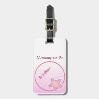 愛らしいピンクの星は、ベビーシャワーお母さんにです ラゲッジタグ