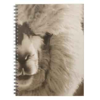 愛らしいラマかアルパカ ノートブック