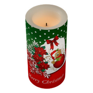 愛らしい休日のクリスマスくま LEDキャンドル