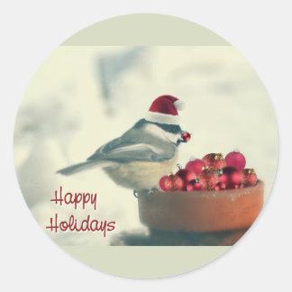 愛らしい休日の《鳥》アメリカゴガラ ラウンドシール