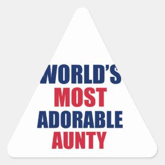 愛らしい伯母さん 三角形シール