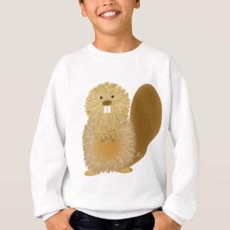 愛らしい動物のスケッチ: ビーバー スウェットシャツ