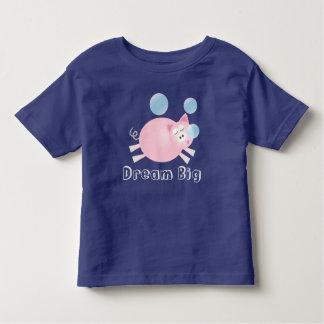 愛らしい夢の大きく眠いブタの漫画 トドラーTシャツ