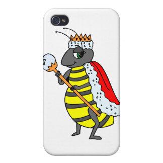 愛らしい女王バチの漫画 iPhone 4/4Sケース