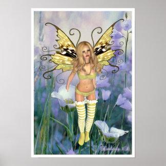 愛らしい妖精のファンタジーポスター ポスター