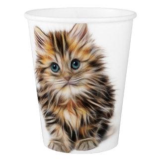 愛らしい子ネコの絵画 紙コップ