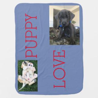 愛らしい子犬毛布 ベビー ブランケット