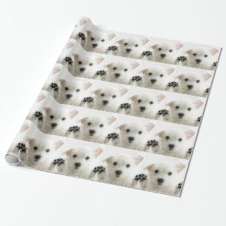 愛らしい子犬 包み紙