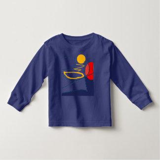 愛らしい幼児のTシャツのTシャツのベビーの衣類 トドラーTシャツ