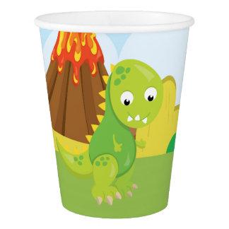 愛らしい恐竜 紙コップ