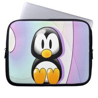 愛らしい漫画のペンギン ラップトップスリーブ