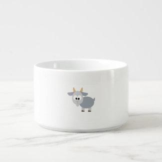 愛らしい灰色のヤギ チリボウル