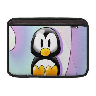 愛らしい着席の漫画のペンギン MacBook スリーブ