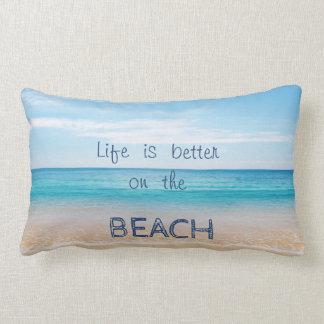 愛らしい砂、海、空、ビーチ ランバークッション
