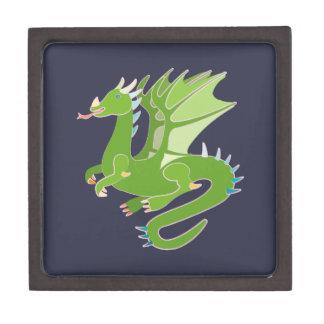 愛らしい緑ドラゴン ギフトボックス