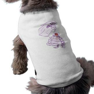 愛らしい花嫁 犬用袖なしタンクトップ