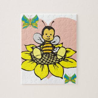 愛らしい蜂のパズル ジグソーパズル