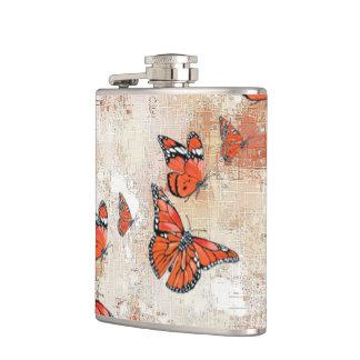 愛らしい蝶、大地 フラスク
