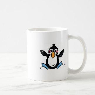 愛らしい跳躍のペンギン コーヒーマグカップ