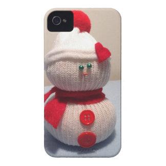 愛らしい雪だるまiphone4の箱 Case-Mate iPhone 4 ケース