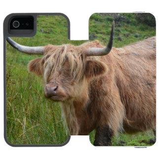 愛らしい高地牛 INCIPIO WATSON™ iPhone 5 財布 ケース