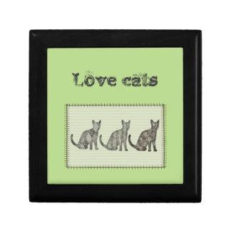 """愛らしい""""愛猫""""は猫のパッチワークを抽出します ギフトボックス"""