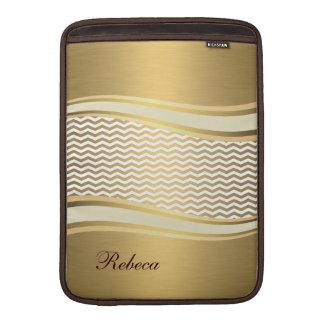 愛らしいattracutveの金贅沢で粋なシェブロン MacBook スリーブ