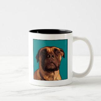 愛らしいBullmastiff ツートーンマグカップ