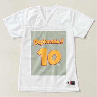 愛らしいDeplorable™米国の選挙2016の切札米国 レディースフットボールジャージー