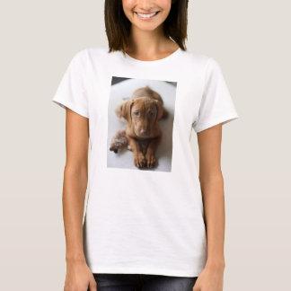 愛らしいVizslaの小犬- Vizslaの子犬のTシャツ Tシャツ
