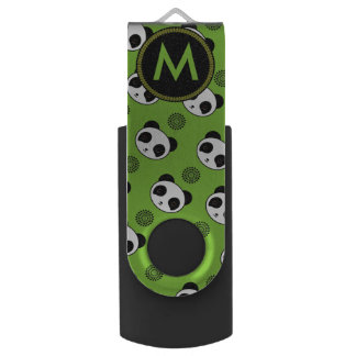 愛らしくかわいいのパンダの曼荼羅パターン USBフラッシュドライブ