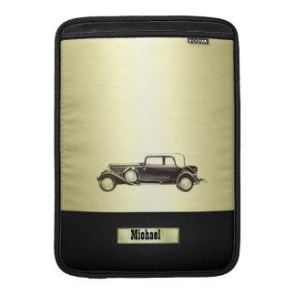 愛らしく上品なヴィンテージの金ゴールド古い車のmonoram MacBook スリーブ