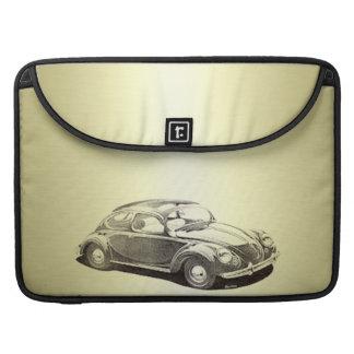愛らしく上品なヴィンテージの金ゴールド古い車のmonoram MacBook proスリーブ